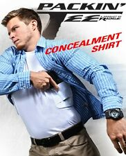 CONCEALMENT PACKIN' TEE HOLSTER T-SHIRT WHITE CONCEALED CARRY HOLSTER SHIRT