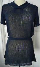 KALEIDOSCOPE LOOSE KNIT LONG BLUE TUNIC TOP SIZE 12 & 14 BNWT RRP £45.00