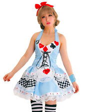Womens Adult Alice In Wonderland Costume Ladies Sexy Fancy Dress Disney Outfit