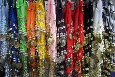 Coin Sash - Belly Dancing 3 Line Hip Scarf