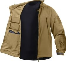 Coyote Brown Ambidextrous Military Soft Shell Concealed Carry Tactical Jacket