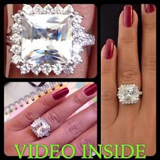 Fine**4.+CT Princess Cut Engagement Ring Wedding Diamond Ring 22KT Made in Italy