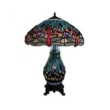 Meticulous Reproduction TiffanyDragonfly Table Lamp Stain Glass Hand Cut Shade