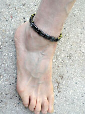 Men's Magnetic Hematite Anklet Sportsman Series SUPER STRONG Clasp double row