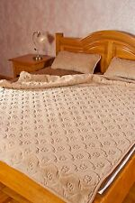 NEW PATTERN DUVET / QUILT-CAMEL CAPUCINO FLOWERS  SIZE 155X200 WOOL4YOU 100%WOOL