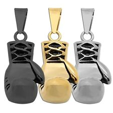 Stainless Steel boxing glove fist Solid Pendant for chains necklace 1 Piece