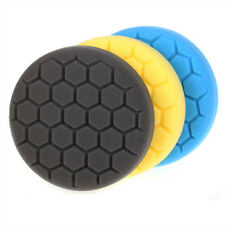 3Pc 3/4/5/6/7 inch Hex-Logic Buff Polishing Pad  Kit For Car Polisher-Select Set