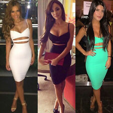 Women Sexy Straps Bodycon Bandage Evening Party Cocktail Short Slim Mini Dress
