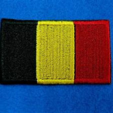 Belgium Flag Iron on Sew Patch Applique Badge Embroidered Biker Applique Europe