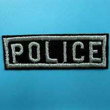 Police Badge Iron Sew on Patch Embroidered Applique Biker Badge Motorcycle Punk