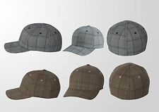Flexfit - Mens Check Caps Fitted Baseball Hats S/M and L/XL 6196 New
