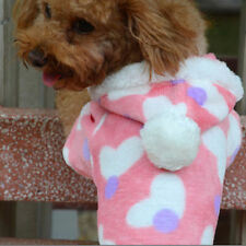 Dog Cat Pink Heart Sweater Puppy Warm Coat T-Shirt Pet Clothes Apparel Clothing