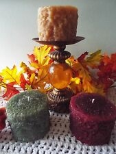 """AWESOME Grubby Pillar Candles-Full 3x4""""Tall-Your Choice of Color & Fragrance"""