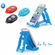 Adjustable Portable Foldable Stand Holder For iPhone 6 iPad 4+ bluetooth Remote
