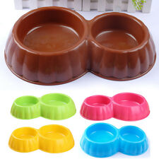 Non-Slip Non-Spilled Plastic Dog Cat Pet Double Bowl Water Food Dish Feeding