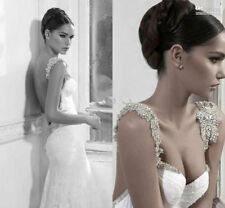 Fashion Sweetheart Besautiful White/Ivory Wedding Dress Bridal Gown Custom Size