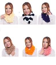 FUR winter scarf collar muffler women Rex Rabbit fur scarf neckerchief shawl