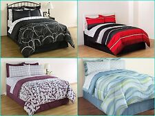 Complete Bed Comforter Set Twin Full Queen King Dorm Room Bedding Sheets Shams