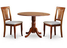 Dublin 3 Pieces kitchen nook dining set-round kitchen table and 2 dinette chairs