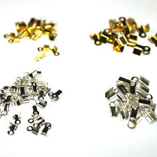 Wholesale Gold Plated Chains Cord Crimp End Caps Beads Jewelry Repair Findings