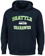 Seattle Seahawks NFL Men's Home Turf Pullover Hoodie Navy Blue Big & Tall Sizes
