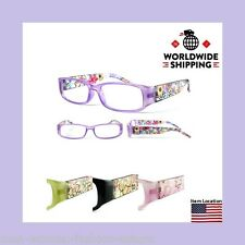 Women Readers Reading Glasses Red Rose Floral Fashion Designer Various Strengths
