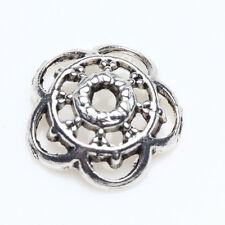 50/100Pcs 10mm Tibetan Silver Flower Shaped Bead Caps Plated Jewelry Crafts