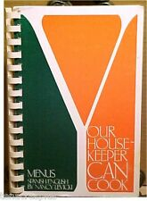 1983 Your Housekeeper Can Cook COOKBOOK Spanish/English Bilingual Levicki 80's