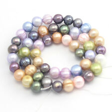 """Mixed Color Craft Jewelry Making Round Freshwater Pearl Beads Strand 15"""""""