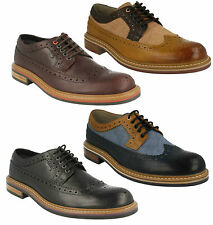 MENS CLARKS LACE UP LEATHER FULL BROGUE FORMAL WORK OFFICE SHOES DARBY LIMIT