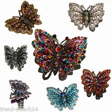 Ring rhinestone butterfly stretch ring butterfly ring
