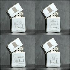 Personalised Engraved Wedding Lighter Male Wedding Favour Gifts Best Man Usher
