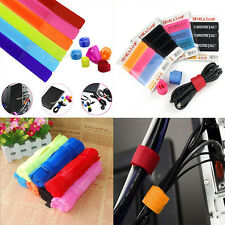 10PCs/Packet colorful Straps Wrap Wire  Cable Holder Tie Rope For PC TV