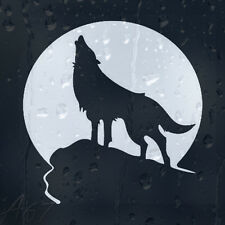 Wolf Howling To The Moon Car Truck Window Laptop PC Decal Vinyl Sticker BLACK