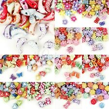 18 Style Mixed Acrylic Beads Assorted Jewelry Craft Findings