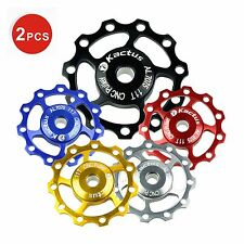 2 X Mountain Road Bicycle Bike Jockey Wheel SHIMANO SRAM Rear Derailleur Pulley