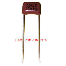 22nF 400V Metallized Polyester Film Capacitors, Pack of: 2, 5, 10 or 20