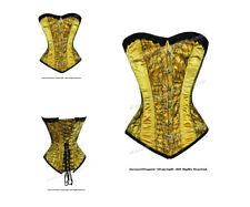 16 Full Steel Boned Heavy Lacing Satin Overbust Shaper Corset 8416 (SA)