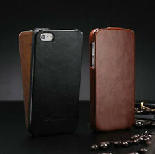 New Vertical Flip Retro Leather Ultra Slim Case Cover Pouch For iPhone 4 4S 5 5S