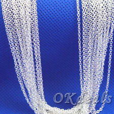 18 inch Wholesale Lots Silver Plated Shaped O Chain Necklace Pendant New
