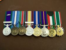8 MINIATURE MEDALS COURT MOUNTED READY FOR WEAR