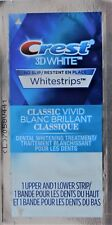 Crest3D White Whitestrips Classic Vivid 1 to 10 Pouches Per Lot Teeth Whitening