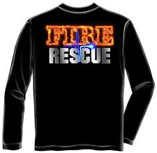 Erazor Bits Long Sleeve T-Shirt - Fire Fighter - Fire Fighter Rescue - Full Fron