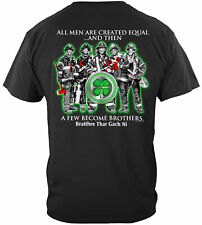 Erazor Bits T-Shirt- Fire Fighter - All Men are Created Equal- Firefighter Irish