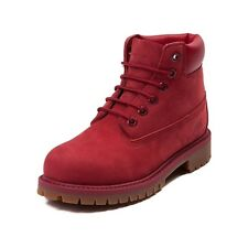 "Timberland 6"" Premium Waterproof Big Kids (GS) Boots Red Mono TB0A13HV"