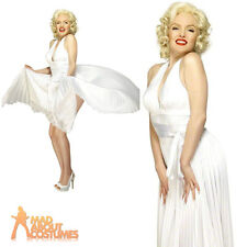 Adult Marilyn Monroe Costume Deluxe Sexy Fancy Dress Hollywood Starlet New