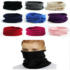 Polar Fleece Neck Warmer Snood Scarf Ski Motorbike Mask Mens Ladies Unisex