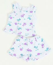 FRILLY LILY GIRAFFE FABRIC VEST AND SHORTS SET FOR DOLLS, LOTS OF SIZES!