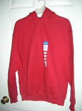 Mens Hoodie Pullover Sweat Shirt Antique Cherry Red Hooded Fleece GILDAN - M, XL