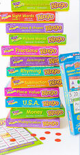 NEW nib TREND enterprises BINGO Flash Cards Educational Games SIGHT WORDS U.S.A.